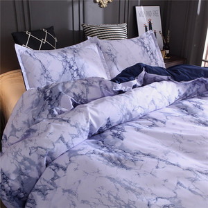 Image 4 - Simple Marble Bedding Duvet Cover Set Quilt Cover Twin King Size With Pillow Cas  great house warming gift modern dreaming stars