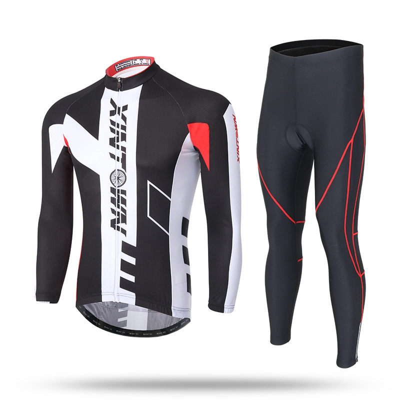 XINTOWN 15 Colors Team Mens Cycling Clothing Bike Bicycle Long Sleeve Jersey Jacket and Tights Pants Bike Equipments