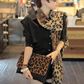 1pc Noble Fashion Women's Long Soft Wrap Lady Shawl Silk Leopard Chiffon Scarf Shawl Stole clothing  2 colors