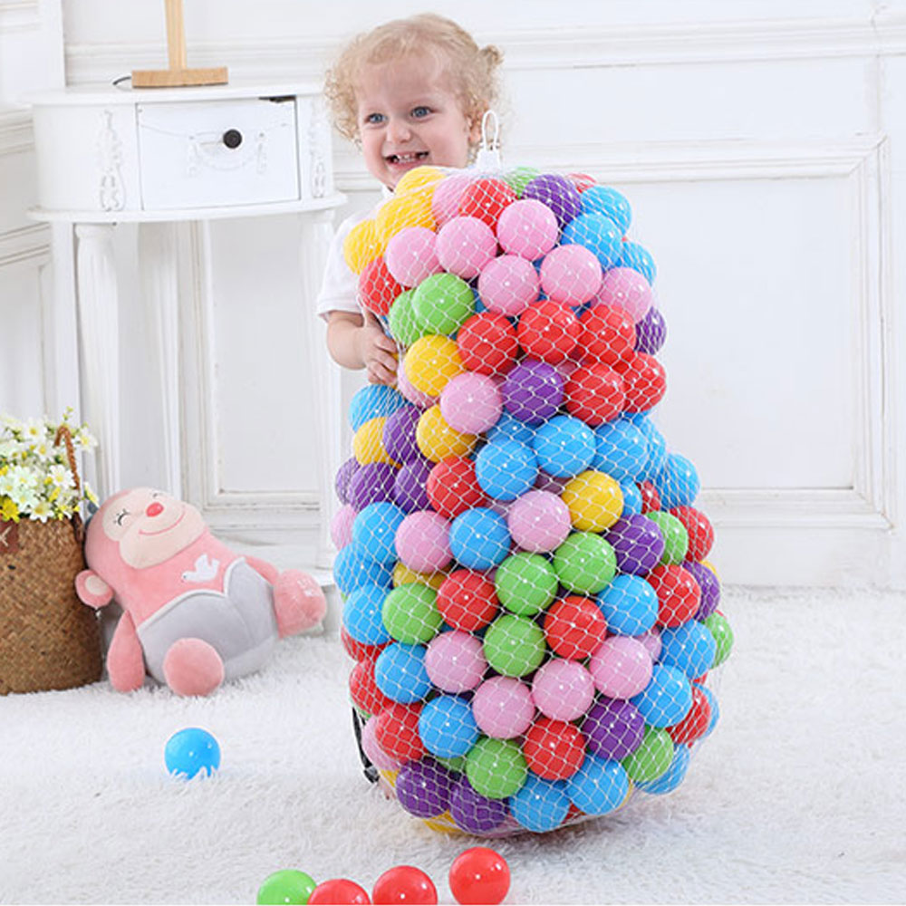 200 Pcs/Lot Plastic Ocean Wave Ball Pits Yellow Red Pink Pool Balls Toys For Children Adults Plastic Balls For Dry Pool 5.5 Cm