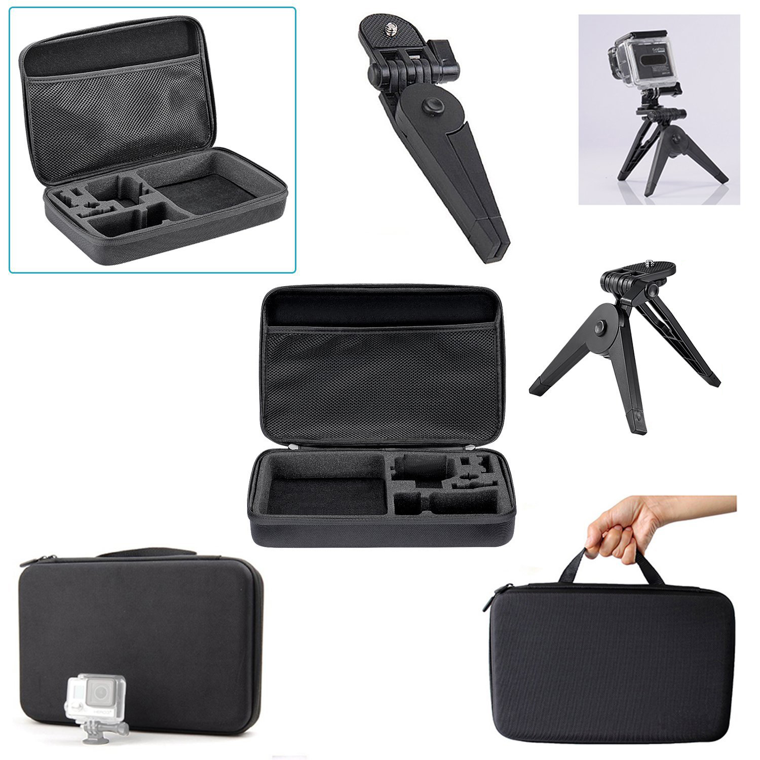 ATS-24-in-1 Sport Accessory Kit for GoPro Hero4 Session Hero Series for Xiaomi Yi in Skiing Climbing Bike Camping Diving and ATS