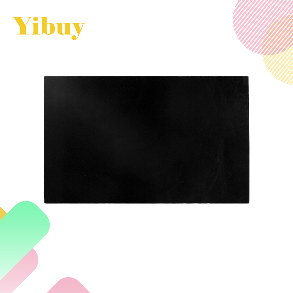 Yibuy 2.3mm Thickness 3Ply DIY Guitar Bass Pickguard Blank Black Pickguard Sheet 30 white 3ply guitar pickguard blank outline scratch plate for strat replacement