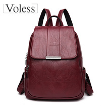 Backpacks for Women Designer High Quality Leather Bag Fashion School Bags Large Capacity Travel Bolso Mujer