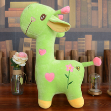 about 35cm cartoon giraffe plush toy lovely green giraffe soft doll baby toy birthday gift,Xmas gift c823