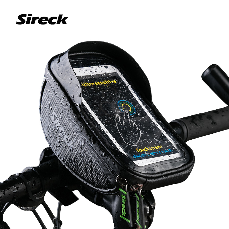 Bicycle Mountain Bike Bag MTB Front Bag Touch Screen Phone Case Waterproof Pouch