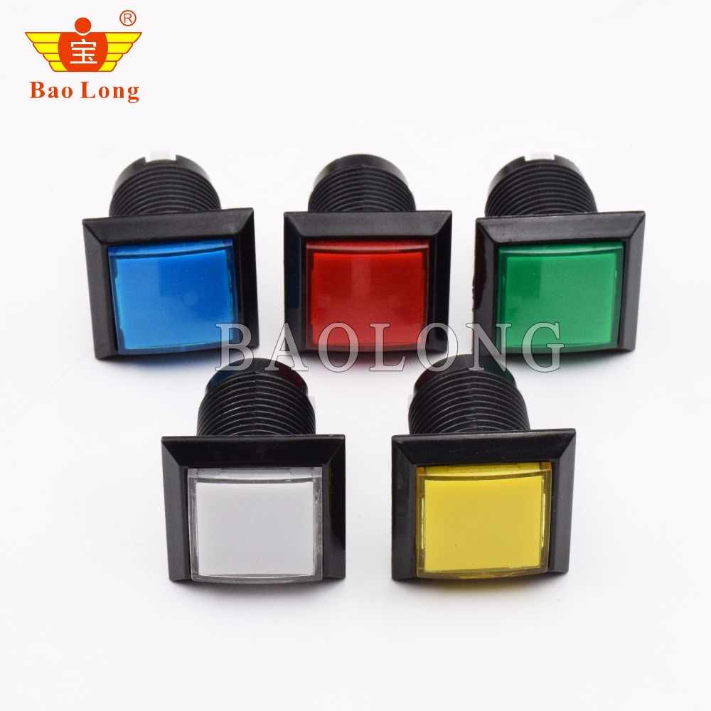 33mm square game machine push button arcade LED momentary push button illuminated push button