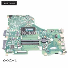 NOKOTION NBMVH11006 NB.MVH11.006 laptop motherboard For acer Aspire E5-573G i5-5257U Main board DA0ZRTMB6D0 Works