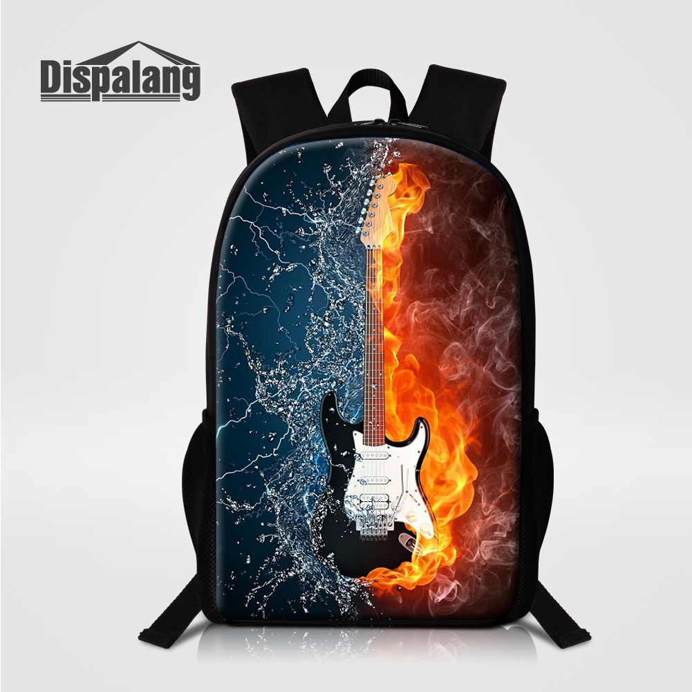 Dispalang Women Men Canvas Laptop Backpacks School Bags For Teengers Violin Music Bagpack For Girls Boys Children Custom Mochila Luggage & Bags Men's Bags