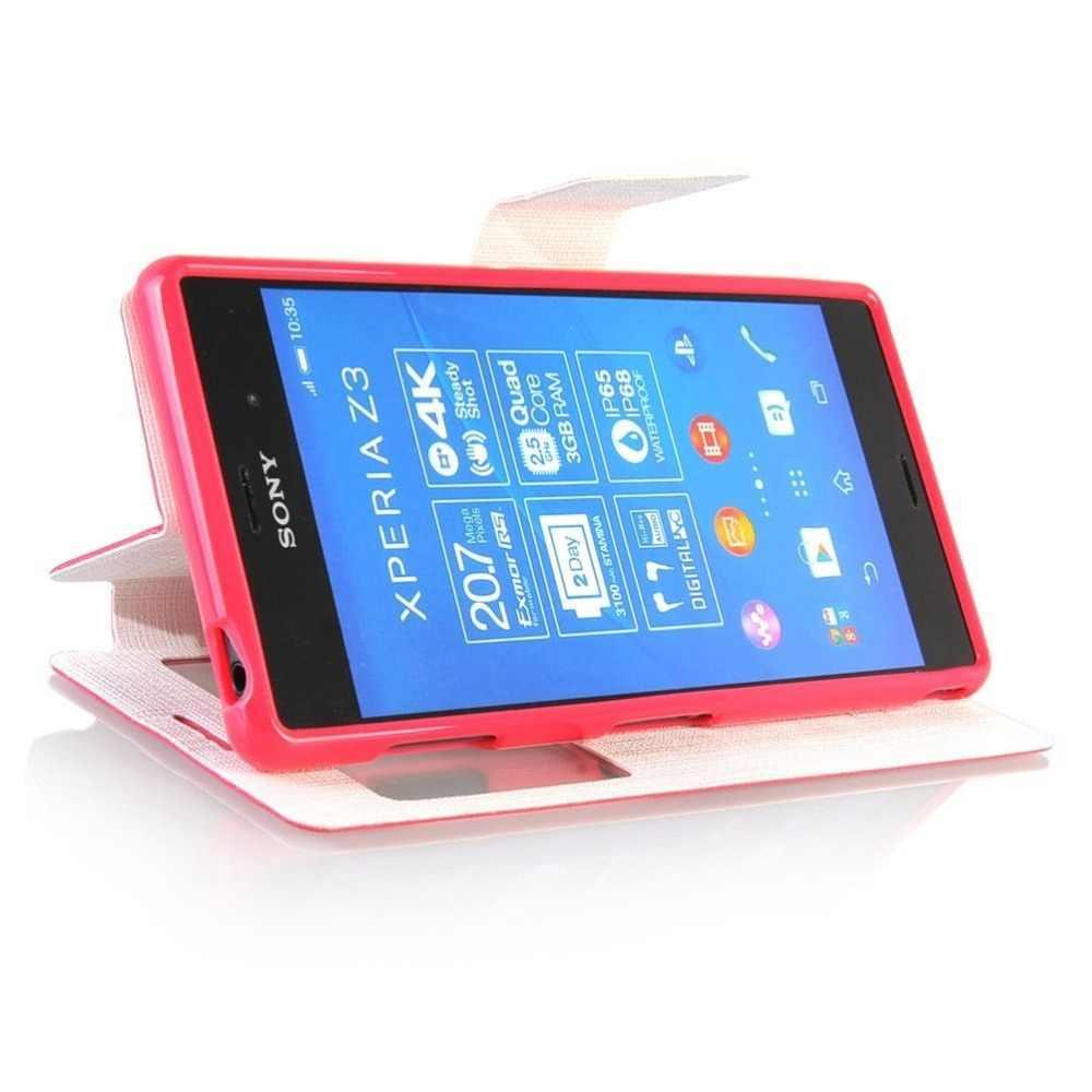 Из искусственной кожи 5,2 для Sony Xperia Z3 чехол для Sony Xperia Z3 D6603 D6643 D6653 D6633 сотовый телефон флип чехол