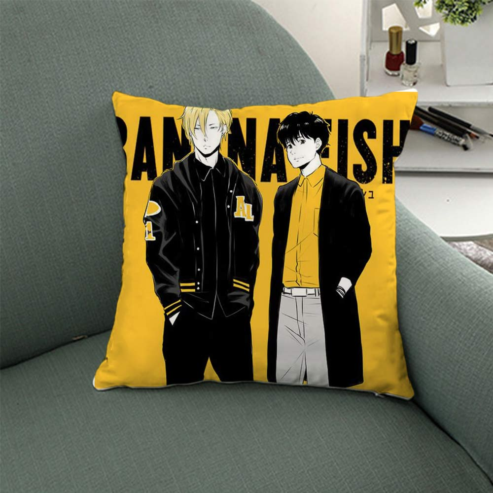 OHCOMICS 40*40CM Anime banana fish Lynx Aslan Jade Callenreese Okumura Eiji Cushion Home Car Cover Pillow Case Slip Tick Gifts