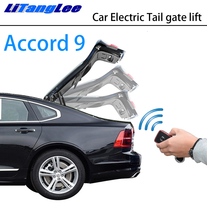 LiTangLee Car Electric Tail Gate Lift Trunk Rear Door Assist System for Honda Accord 9 MK9 2013~2018 Original Key Remote Control
