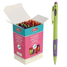 Bolígrafo de color azul de 48 uds, bolígrafos de 0,7mm, herramientas de oficina clásicas promocionales, suministros escolares, Canetas escolares A6053