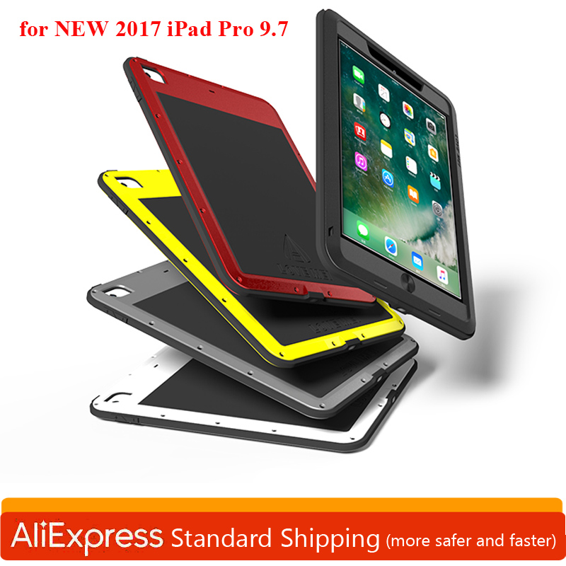 Powerful Aluminum Shockproof Case for iPad PRO 9.7inch 2017 Armor Metal Heavy Duty Hard Cases for New iPad Pro 9.7 Case Cover
