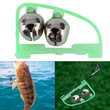3pc Fishing Accessory Rod Tip Fish Bite Double Alarm Alert Clip Bells Tool free shipping