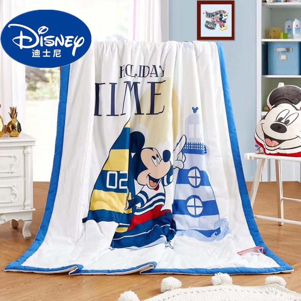 Disney Mickey Mouse enfants adulte été couverture couette coton étudiant unique reine roi dessin animé garçon chambre doux couverture feuille