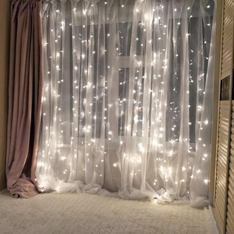 Led Рождество Строка сказочных огней открытый ЕС Plug гирлянда с лампочками аксессуары для дома вечерние/сад/Свадьба праздничное освещение