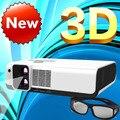 Лучшее Чтение imax 3D Full hd с двумя объективами 2700 ANSI Лм накладные портативный светодиодный поляризованных 3d-проектор для домашнего кинотеатра, КТВ, кафе