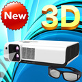 WZATCO Polarized 3D Read imax Full HD Dual lens Portable LED Projector 2700ANSI Lm overhead for home theater, KTV, Coffee shop
