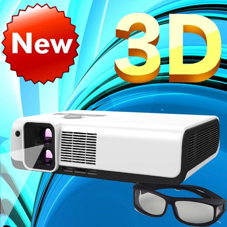 WZATCO polarisé 3D lecture imax Full HD double lentille projecteur à LED portable 2700 ANSI Lm pour home cinéma, KTV, café