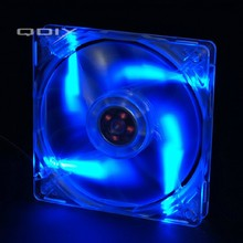 QDIY FZ-MS120B Personalized Computer Case 120mm Matte Transparent Blue Lamp Cooling Fan