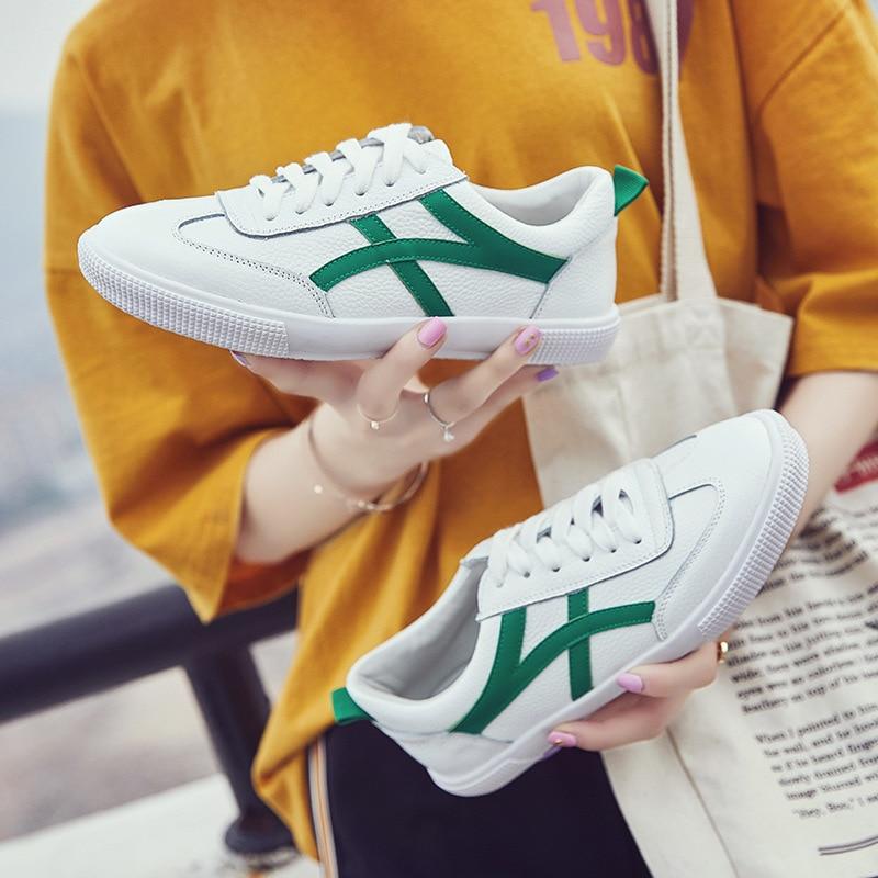Femmes 2018 Confortable Simple vert De FemmesNoir Sport Plat Mode Chaussures Nouveau Coréenne La Couleur Correspondant Version Tendance rouge CxorBedQW