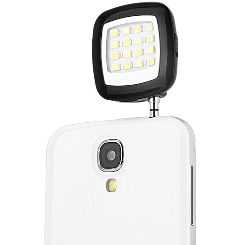 s7 edge Mini Portable 16 LED Cell Phone Spotlight Flash for Samsung s7 edge for iPhone and Android for Flash Fill Light Self