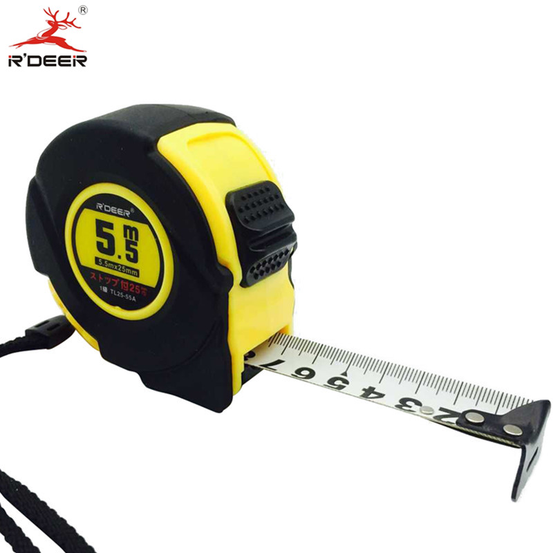 5.5M Grip Tape Measure Width 25mm Metric Double Scale Automatic Measuring Tape With Thumb Lock Thicken