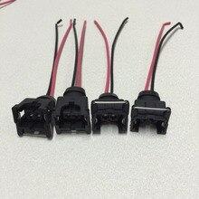 4pcs waterproof EV1 fuel injector plugs connector for bosch440cc 650cc 850cc 1000cc fuel injector with pin and wire