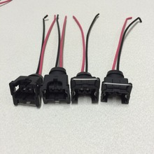 Inyector de combustible EV1 a prueba de agua, conector para inyector de combustible bosch440cc 650cc 850cc 1000cc con pin y cable, 4 Uds.