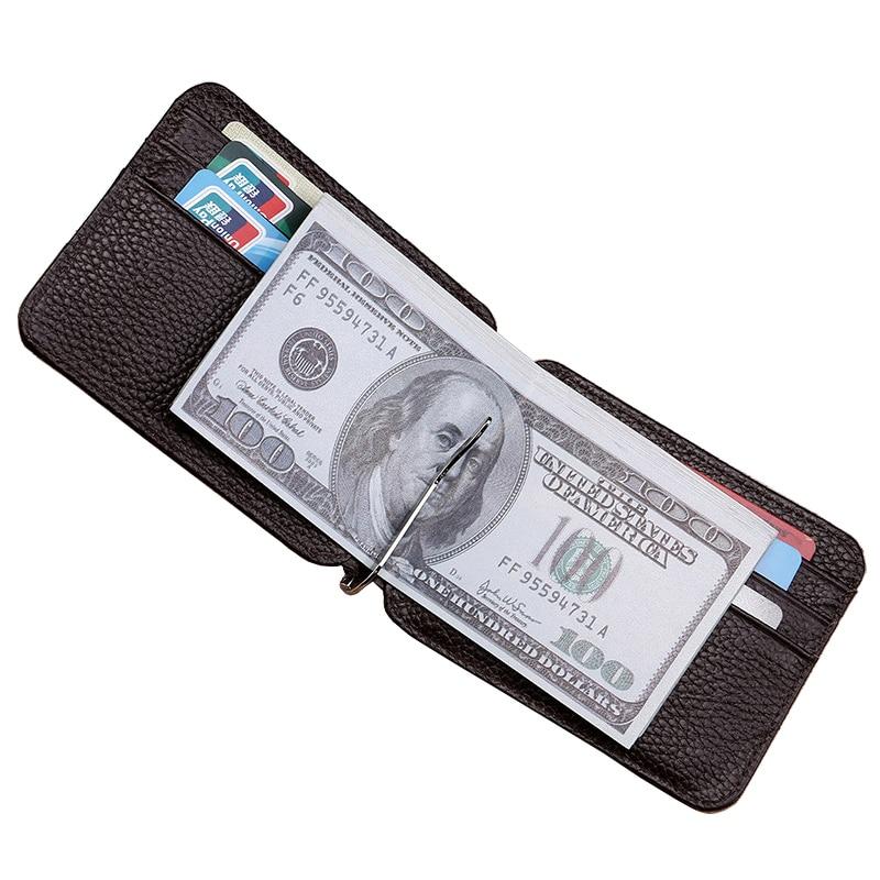 Ultrathin Valódi bőr férfi pénztárca hitelkártya tartó High-end ... f164658da3