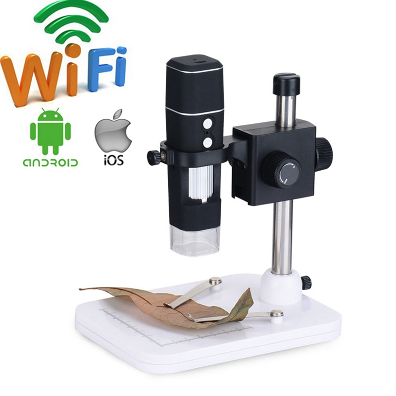 1000X WIFI Digital Microscope Wireless WIFI Mobile Phone Electron Microscope USB Digital Microscope Camera for PCB Inspection digital wifi microscope camera with android ios mobile phone live monitoring app