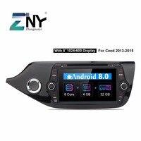 Android 8.0 Car DVD 2 Din Autoradio For Kia Ceed 2013 2014 2015 2016 8 IPS Video Multimedia GPS Navigation 4+32GB Gift Camera