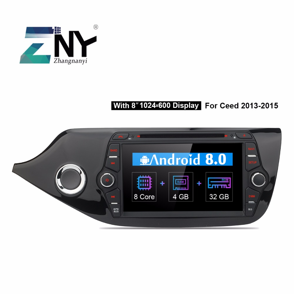 "8"" HD Android Car DVD 2 Din Auto Radio For Kia Ceed 2013 2014 2015 2016 GPS Navigation Multimedia FM RDS Audio Video Gift Camera"