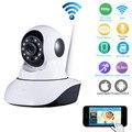 HD 720 P Wi-fi Câmera Dome IP Sem Fio IR Cut Night P2P Monitor do bebê De Áudio Registro SD WI-FI CCTV Onvif sensores de Temperatura de umidade