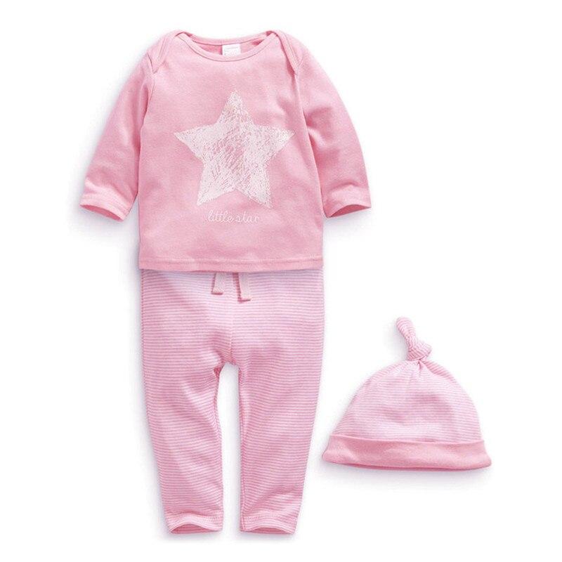 99ec6c8de863e 2017赤ちゃん男の子ロンパース春赤ちゃん女の子服セット長袖幼児赤ちゃん服roupasベベ幼児