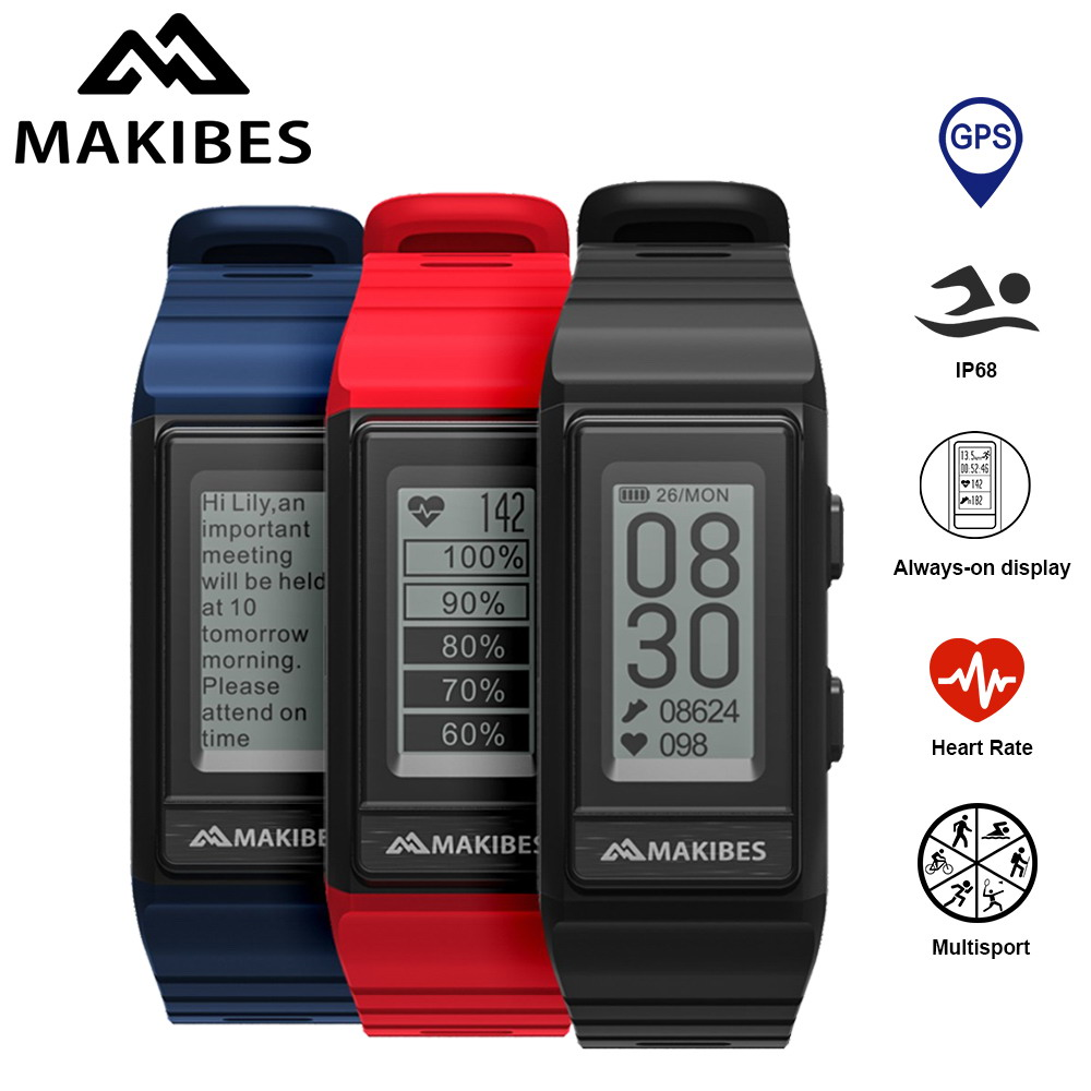 NEW Makibes G03S GPS Multisport Smart Band Heart Rate Fitness Wristband IP68 waterproof Always on display GPS activity tracker цена