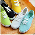 women canvas shoes fashion lace up breathable women solid color flat shoes casual candy colors shoes women p4d27