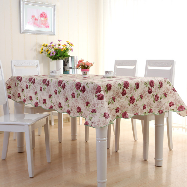 On Sale! Table Cloth For Home/modern Stylish Garden Waterproof Oilproof  Printed Purpleu0026Green PVC