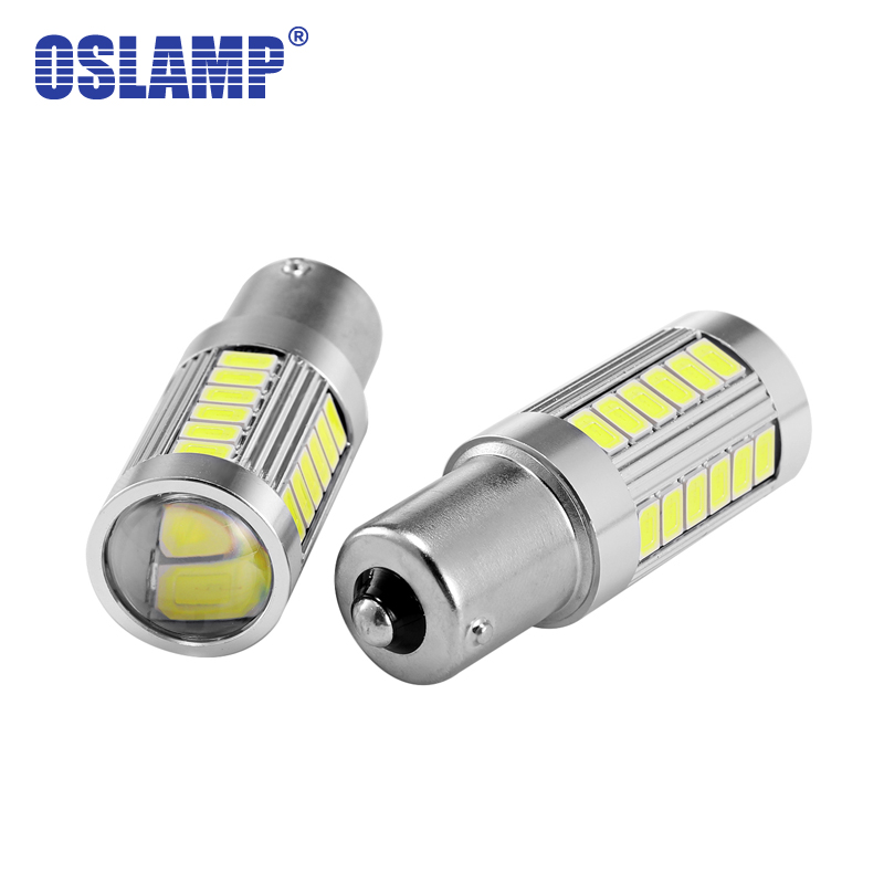 Oslamp 1157 BAY15D P21/5W Led Car Bulbs 12V 6000K Brake Lights 33W/pc 800lm Tail Signal Bulb Stop Lamps SMD Chips Auto 2pcs/Pack
