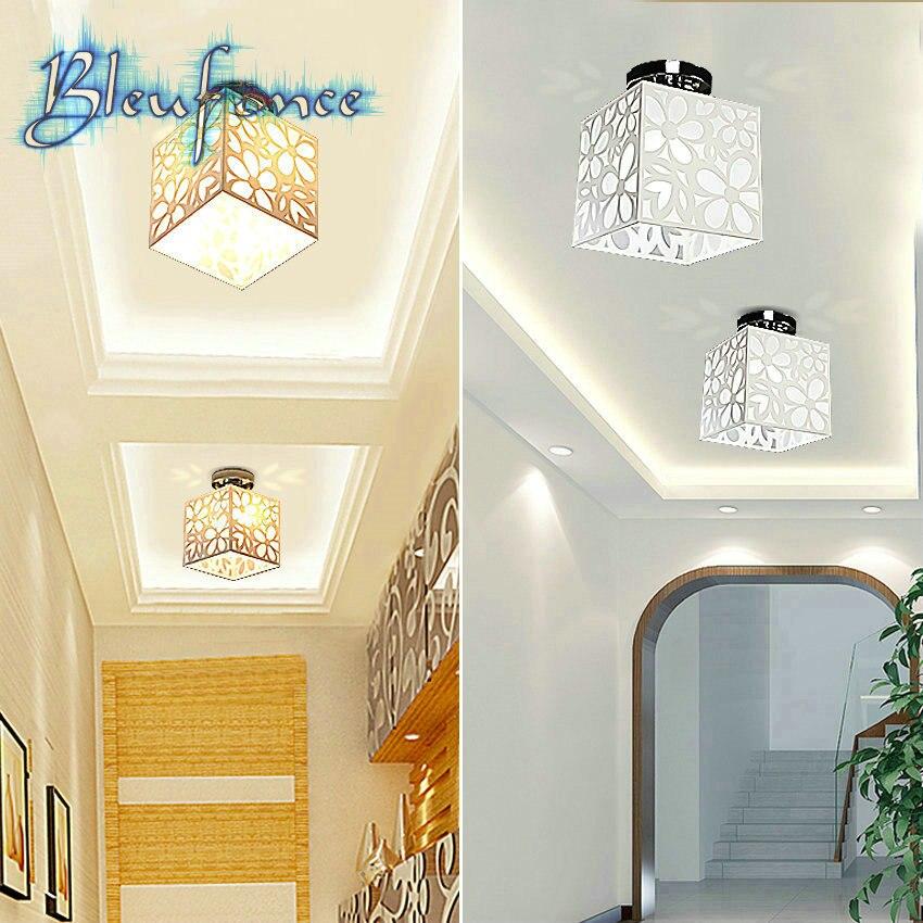 ФОТО Indoor Ceiling Light Acrylic Hollow Carved Ceiling Lamp Aisle Hallway Light Lighting Bedroom Balcony Lamp Modern Minimalist