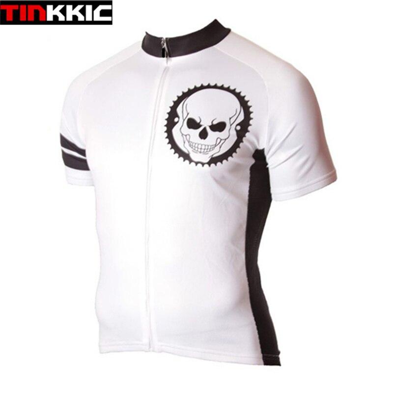 ᗜ LjഃTan fresco Ciclismo Jersey cráneo manga corta Jerséis ...