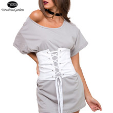 Good Quality White Lace Up Women's Suede Faux Leather Waist Belt Corset Belts Shape-Making Midriff-Cinchers S-XL New(China)