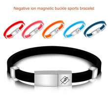 1 Pc Adjustable Anti Static Bracelet Negative ion Silicone Bracelet Remove The Body Static Waterproof Safety Working Sport anti static devices ion bar length 560mm 500mm