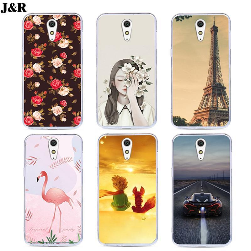 J&R TPU Phone Case For Sony Xperia C5 Ultra Dual E5533 E5563 E5553 E5506 Soft Silicone Printed Cute Cartoon Back Cover Cases