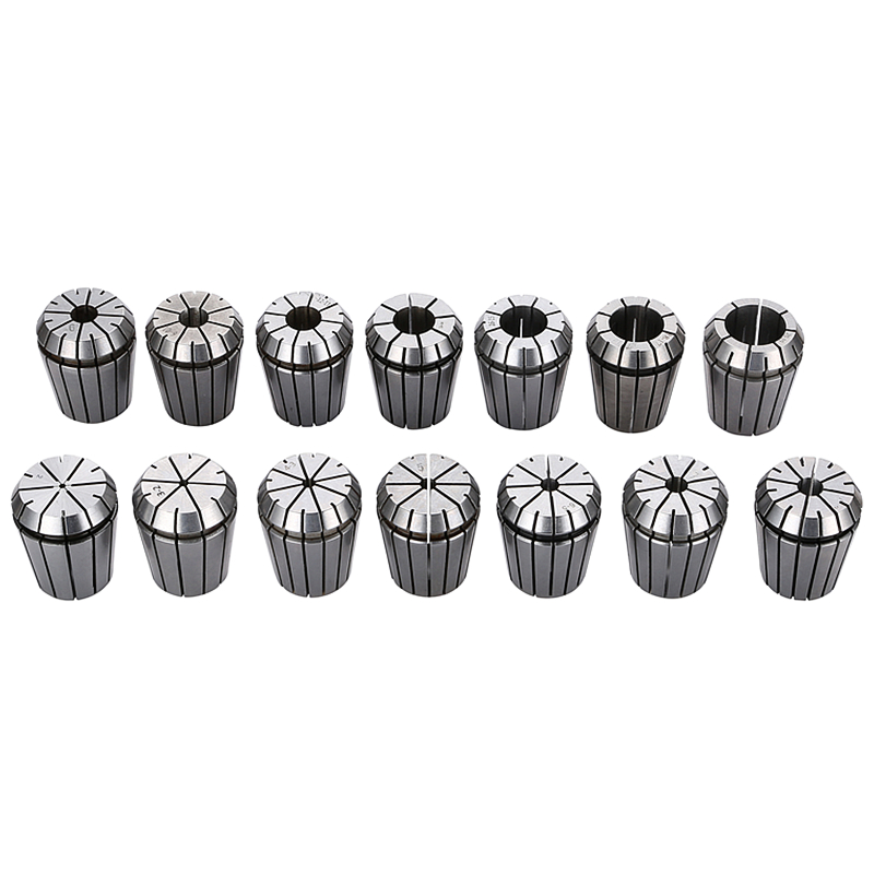 14Pcs ER32 Collet Chuck Set 2-20mm Tool Holder Arbor Milling Chucks CNC Lathe Tools For Engraving Drilling/Tapping Machine Tools bt40 er20 70l milling chuck tool holder for cnc milling machine center