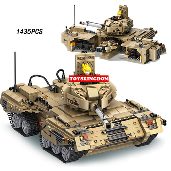 Modern military Counter attack tank 2in1 change jungle command post batisbricks building block ww2 army figures bricks toys