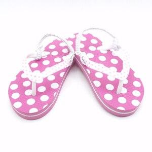 Image 3 - 2020 yaz çocuk Flip flop pembe nokta Antiskid sandalet yumuşak rahat erkek kız terlik plaj çocuk ayakkabı