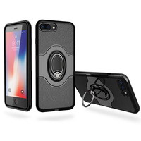 For iPhone 6 6S 7 8 Plus Case Car Holder Stand Magnetic Finger Ring PC+TPU Armor Shockproof Case For iPhone X 5 5S SE Cover