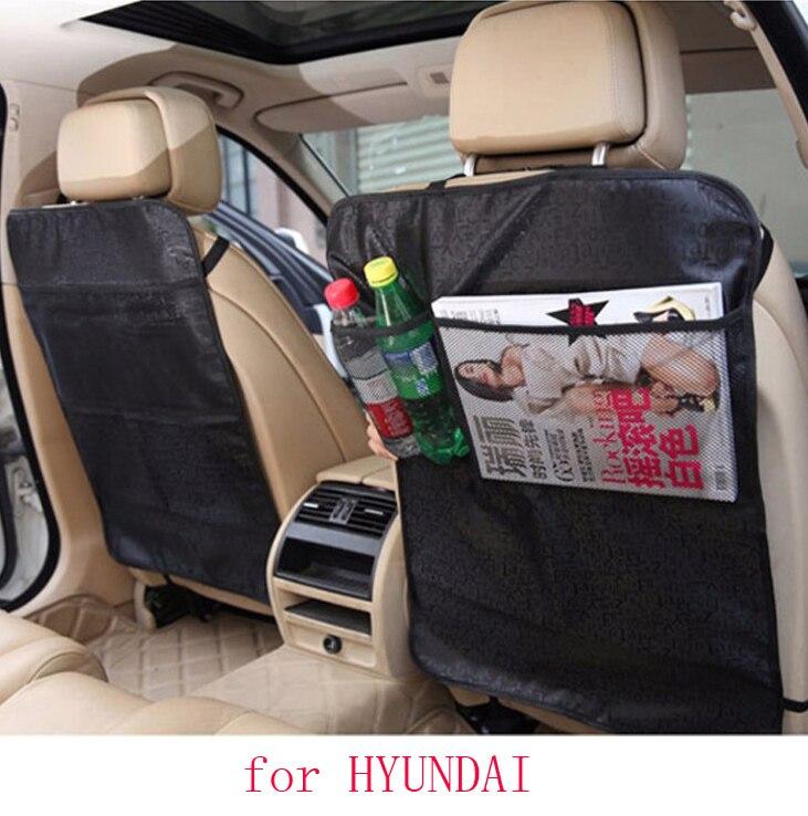 for hyundai tucson solaris i30 accent ix35 car seat covers baby Kick protector mats black waterproof car accessories interior