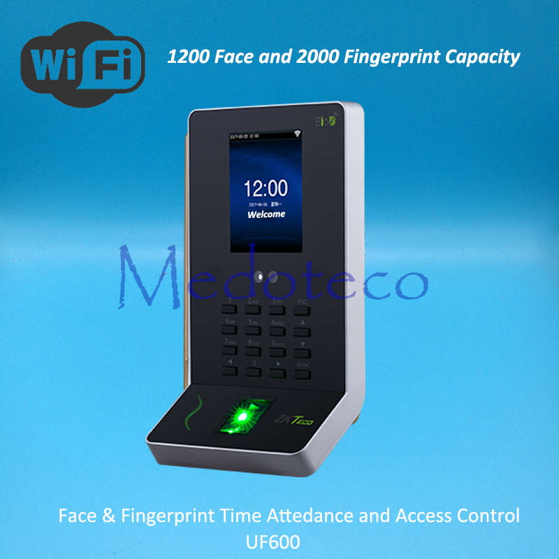 ZK 1200 Face Time Attendance Fingerprint Time Attendance Wifi Biometric Desk Face Time Recording Attendance System
